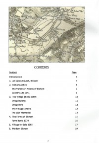 Hidden Bisham booklet contents